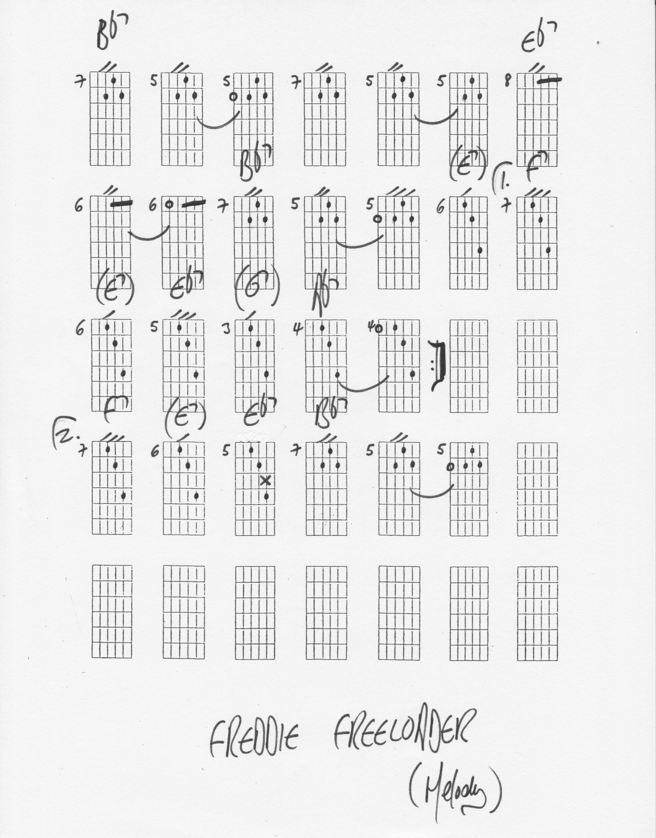 Freddie Freeloader By Miles Davis Harmony Harmonized Melody Chord