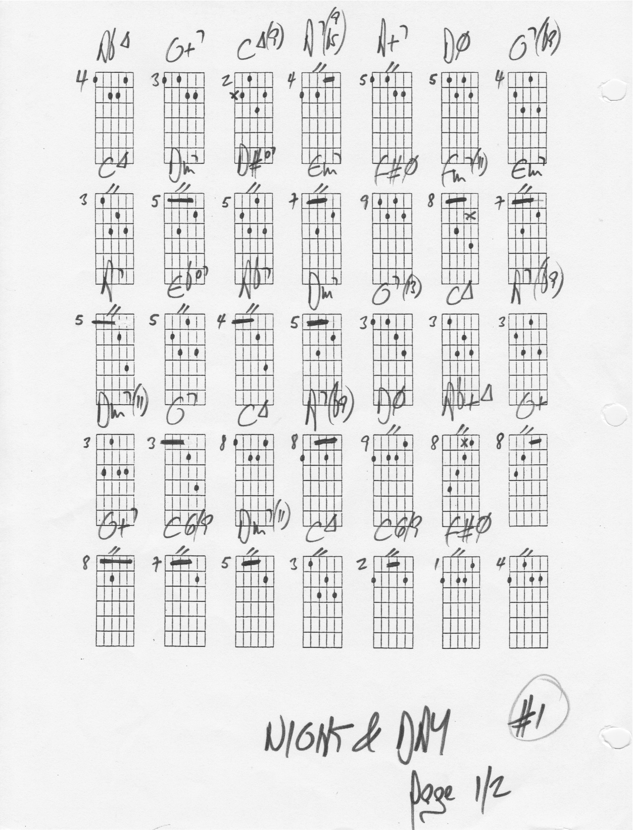 Night And Day The Chord Changes Chords Chord Changes Jazz