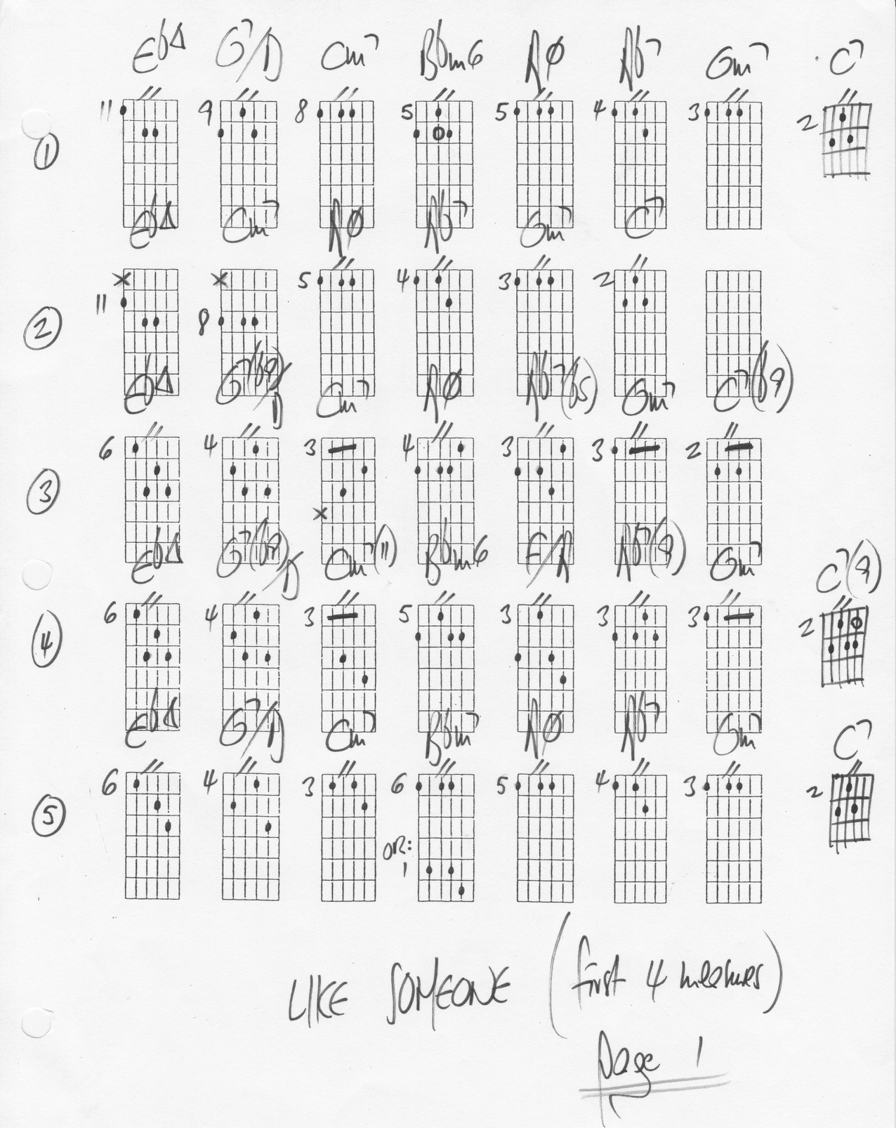 Like Someone In Love - chord changes - substitutions
