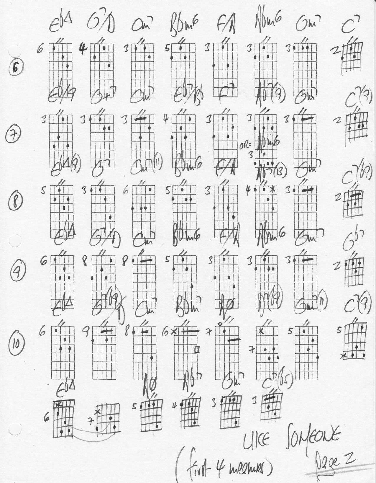 Like Someone In Love Chord Changes Substitutions Comping